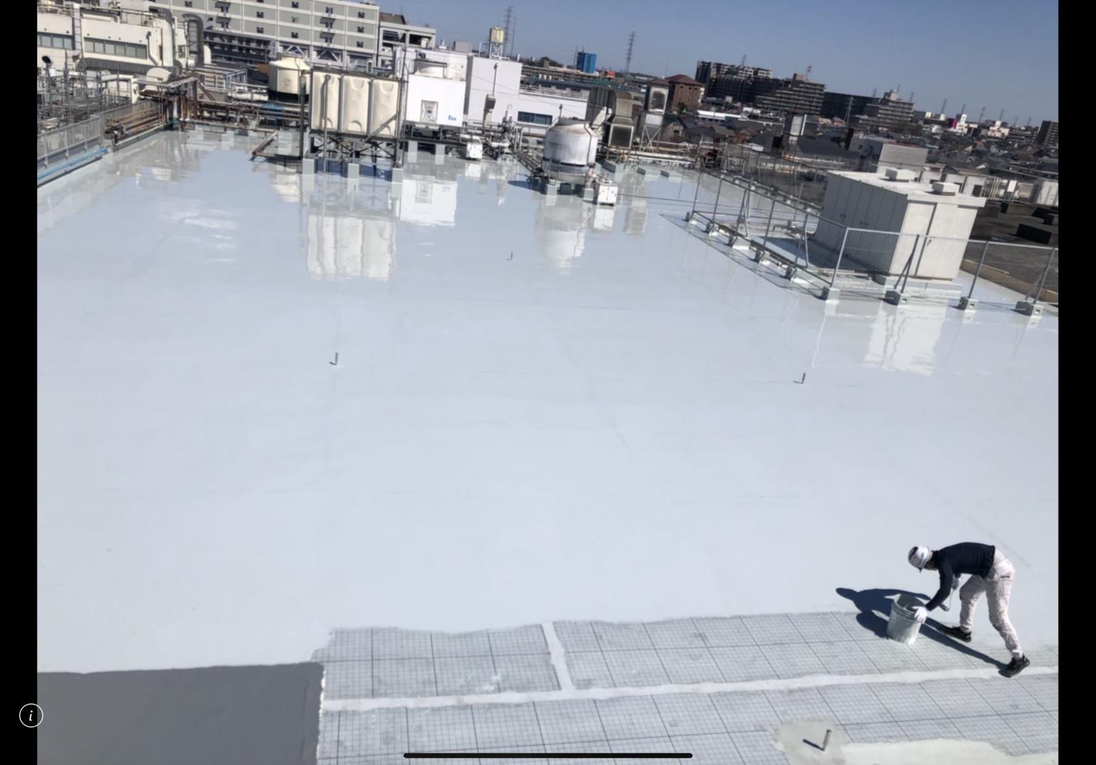 相模原の某工場の屋上にて